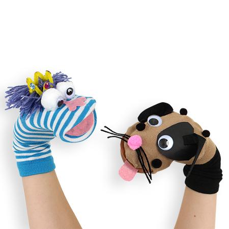 Marionnettes chaussettes (Solstice de la Marionnette) |